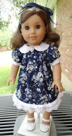 18 Doll Clothes Back to School Dress fits by Designed4Dolls, $19.95