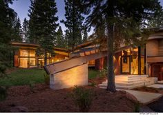 Address: 10810 Holmgrove Court, Truckee  Price: $4.895 million  Features: Four-bedroom, 4.5-bathroom contemporary home set on a 2.07-acre lot. Designed by Sage Architects, the 4,058-square-foot home is mostly one level and includes outdoor Wi-Fi, a three-car garage, large lawn and expansive windows.