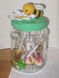 218 Beste Afbeeldingen Van Haken Snoeppotjes Crochet Toys Mason
