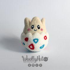 Needle Felted Togepi, Felted Pokemon Togepi, Togepi Pokemon Plush, Handmade…