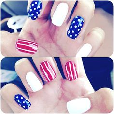 ashleyy_cakes' festive tips. Show us your 4th of July-inspired nails! Tag your pic #SephoraNailspotting to be featured on our social sites.