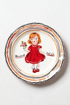 Francophile dinner plates