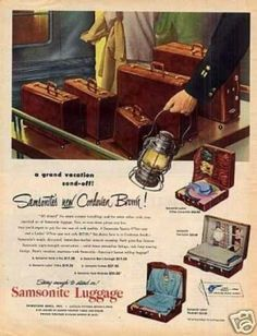 1949 Samsonite Luggage ad, I have this set of luggage