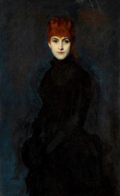 Jean-Jacques Henner, La Comtesse Kessler, c.1886, Oil on Canvas 109 x 69.5 cm
