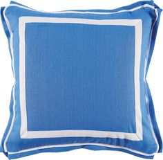 #10 Royal Blue Linen w/ White Twill Tape Pillow: The Southern Home featuring French Country & Shabby Chic Home Decor