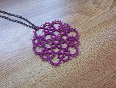 lace tatted necklace lace necklace tatted necklace by MamaTats, $22.00