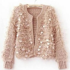 Light pink very warm sequined knit jacket New. Xs/s/m. Available in light pink, black and white Sweaters Cardigans Light pink very warm sequined knit jacket New. Xs/s/m. Available in light pink, black and white Sweaters Cardigans Winter Cardigan Outfit, Cardigan Outfits, Sweater And Shorts, Sweater Coats, White Sweaters, Winter Shorts, Cardigan Sweaters, Loose Sweater, Cardigan Fashion