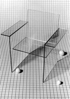 Glass Chair, designed by Shiro Kuramata, 1976