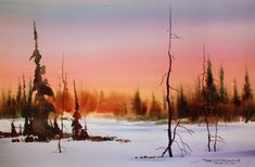 sterling edwards winter  watercolor