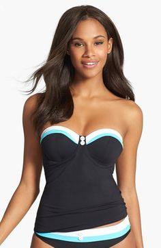 Freya 'Revival' Underwire Padded Bandeau Tankini Top (D-Cup & Up) available at #Nordstrom