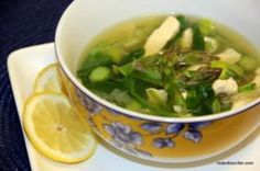 Chicken and Asparagus Soup and more Paleo soup recipes on MyNaturalFamily.com #paleo #soup #recipe