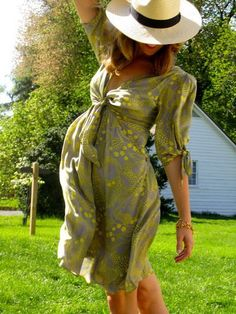 That dress! Oh and the hat too :) Pretty Outfits, Cool Outfits, Fashion Outfits, Fashion Ideas, Fashion Inspiration, Mommy Style, Her Style, Dresses 2013, Summer Dresses