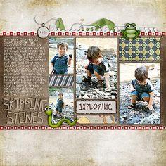 Layout by charmedeebob #scrapbook #layout
