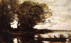 The Athenaeum - The Boatmen near Old Chestnut Trees (Jean-Baptiste-Camille Corot - )