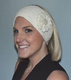 Hand Knit Merino Wool and Cashmere Headband / by BarbooCreations - $28