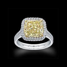 Norman Silverman yellow diamond ring