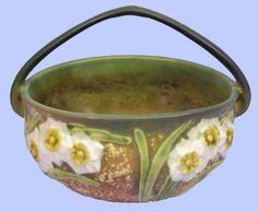 Roseville Pottery Jonquil Basket