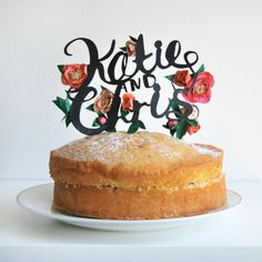 Paper Cut Calligraphy Cake Topper