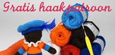 gratis-haakpatroon-zwarte-piet-christel-krukkert-01 Crochet Mandala, Crochet Yarn, Crochet Toys, Crochet Stitches, Crochet Afghans, Crochet Blankets, Easy Fall Crafts, Crafts For Kids To Make, Amigurumi