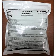 EarthBox® All Natural Dolomite - 5 lb. Bag by EarthBox®. $9.95. OMRI Listed Organic. 5 lb. (80 oz.) bag in a zip-tight re-sealable bag.. Add calcium and magnesium to the growing media to help raise the pH and combat Blossom End Rot (BER). We recommend using dolomite to add calcium and magnesium to the growing media to help raise the pH and combat Blossom End Rot (BER). 5 lb. (80 oz.) bag of our own OMRI Listed organic dolomite in a zip-tight re-sealable bag.