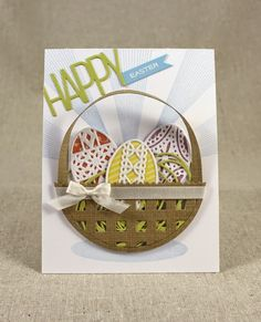 Easter Basket Card by Lizzie Jones for Papertrey Ink (February 2015)