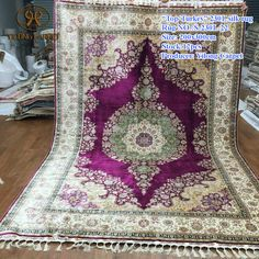 Handmade Silk Carpets & Rugs from Yilong Carpet factory.