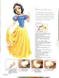 how to model snow white step by step in fondant - Buscar con Google