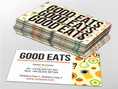 Contemporary business card design, ideal for food suppliers. Customise a range of business card templates online for print at http://brunelone.com/premium-business-cards/designs