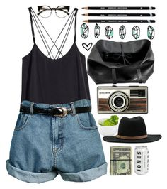 """""""""""beauty begins the moment you decide to be yourself."""" –coco chanel"""" by majocook ❤ liked on Polyvore featuring H&M, Retrò, RVCA, Occa Maison, Cole Haan and INDIE HAIR"""