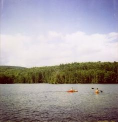 lake. my house would be like a mile past the trees. :)