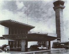 Así lucia el Aeropuerto Internacional de Caujarito conocido como Aeropuerto Internacional La Chinita de Maracaibo para los años 1970