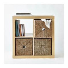 "KALLAX Shelf unit, birch effect, 30 3/8x30 3/8 "" $35.99"
