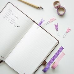 Tuesday morning to-do lists p.s pls see the cute little bookmark clips we made with washi tape #workmode #onmydesk #washitape #todolist #journal #notebook #homedecor #diy