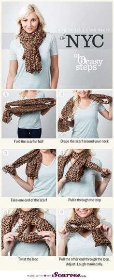 How To Tie A Scarf: The NYC by Ruby S.
