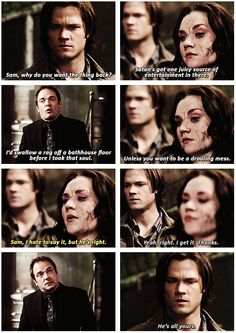 """""""one juicy source of entertainment in there."""" 6x10 Caged Heat #SPNS6 #Supernatural"""