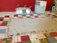 conjunto tapete, alfiletero y recogehilos