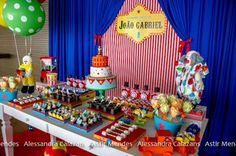 sweet sixteen party carnival theme | Circus Themed 1st Birthday Party - Kara's Party Ideas - The Place for ...