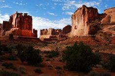 Park Avenue from Courthouse Towers, Arches National Park, with East-West Global Tours