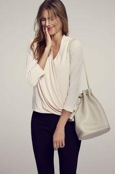 392769b37f6c9 Image result for wrap shirt Ladies Fashion, Work Fashion, Womens Fashion,  Ny Fashion