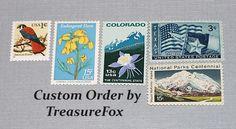 Reserved Custom Order for Mary .. Unused Vintage US Postage Stamps by TreasureFox on Etsy