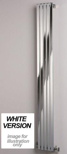 Ultraheat Linear Vertical White Designer Radiator 1800mm x 358mm