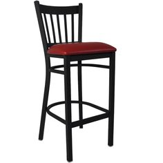 Lowest price online on Flash Furniture Hercules Series Black School House Back Metal Restaurant Bar Stool with Black Vinyl Seat Metal Stool, Metal Bar Stools, Counter Stools, Dining Stools, Kitchen Stools, Restaurant Bar Stools, Restaurant Furniture, Series Black, Black Bar Stools