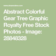 Abstract Colorful Gear Tree Graphic Royalty Free Stock Photos - Image: 28848328