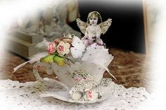 6 More Back in Stock in the Reneabouquets Etsy!! Reneabouquets DIY Kit~ 3D Chubby Little Cherub Tea Cup Die Cut  Do It Yourself Kit ~ Everything You Need To Create The Tea Cup You See