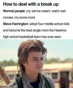 """These funny Stranger Things memes will have you laughing so hard you'll fall out of it. Only true fans of """"Stranger Things"""" who paid attention to all of season 3 will understand these hilarious memes. Stranger Things Quote, Stranger Things Actors, Stranger Things Have Happened, Stranger Things Steve, Stranger Things Season 3, Stranger Things Aesthetic, Stranger Things Netflix, Stranger Things Theories, Steve Harrington Stranger Things"""