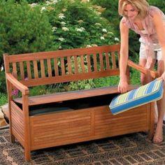 banc en bois pratique pour le rangement