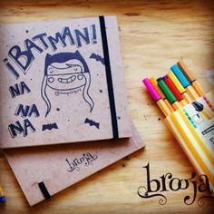 """Artículo Único Sketchbook """"Batman"""" Formato: 15x15 cm 72 hojas Papel bond ahuesado 90 gr Pasta blanda papel kraft sena. Pide el tuyo en: https://www.kichink.com/stores/brooja   #brooja #sketchbook #notebook #kraft #libreta #cuaderno #design #diseño #illustration #ilustración #sharpie #suupergirl"""