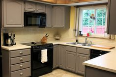 gray kitchen cabinets makeover