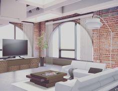 #loft #modern #wood #design #designer #industrialdesign #industrial #condo #interior #interiordesign #interiors #architecture #architect #archilovers #livingroom #latenightdesign #inspiration #inspired #3d by cest_design