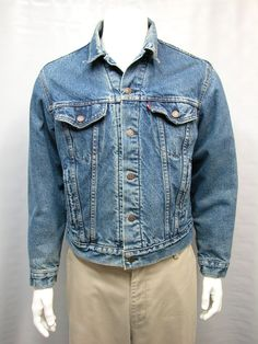 LEVIS JACKET BLANKET LINED STYLE #70506-0316 Sz 44 MENS MADE IN USA (STAINED) #Levis #OutdoorWearToWork